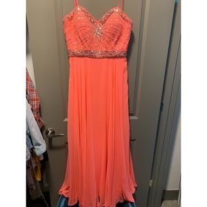 Pink/Salmon colored prom dress